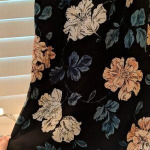 Merona Tops - NWOT  Merona Black Floral Blouse Size XS